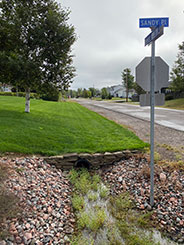 Roads Driveways Infilled Ditch