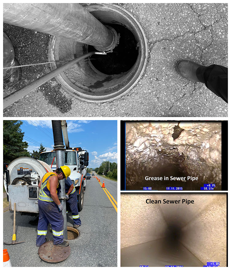 Manholes and sewer lines